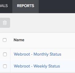 Webroot repots