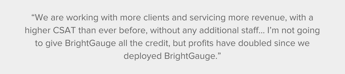 Western Digitech shares their results from using BrightGauge