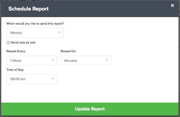 client reports schedule report