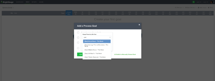 select goals to power your gauge