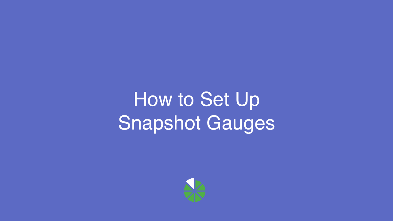 VIDEO: How to Set Up Snapshot Gauges