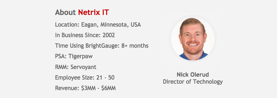 How Netrix Drives Improved Team Performance using BrightGauge