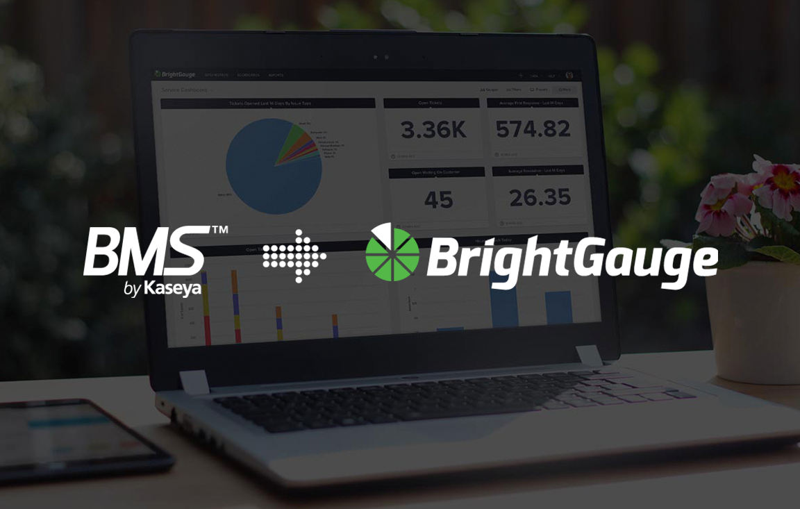 BrightGauge Announces New Integration with Kaseya BMS